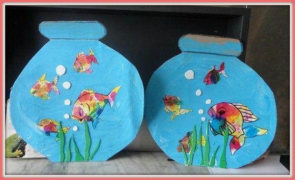 L 39 aquarium aux poissons multicolores bricolage aquarium for Aquarium cadre