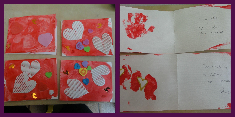 les cartes de St Valentin pour les parents
